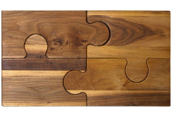 Large cutting board - four piece puzzle