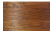 Walnut cutting board rounded corners and edges